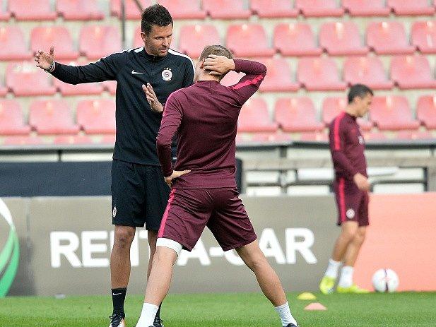 Trénink Sparty před zápasem s Interem Milán