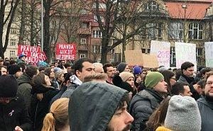 Protestní akce Postavme se za slušné Slovensko