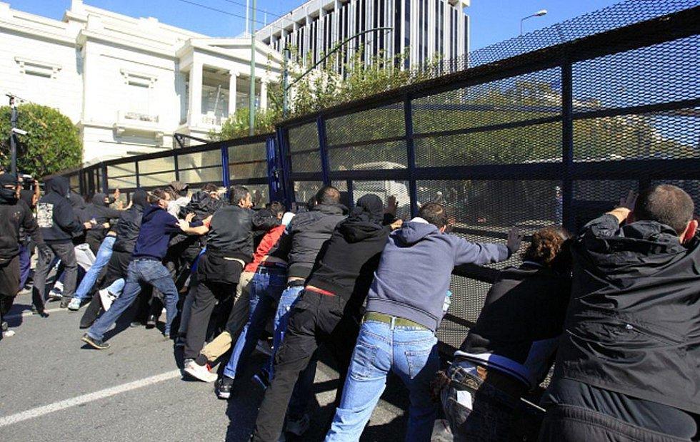 Demonstrace v Řecku.