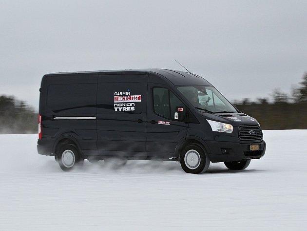 Ford Transit v Arktickém testu dodávek.