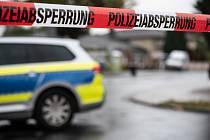 Policejní páska na místě činu v Německu