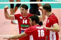 Volejbalisté Budějovic porazili v Lize mistrů celek celek Budvanska Rivijera Budva.