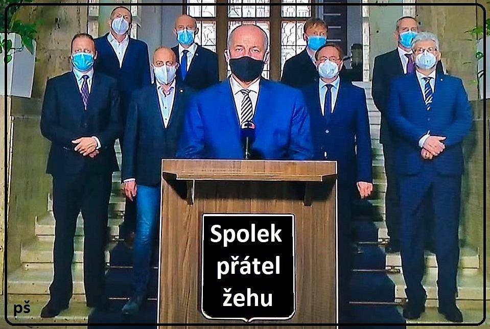 Porci vtipů a karikatur sklidilo aranžmá projevu ministra zdravotnictví Romana Prymuly