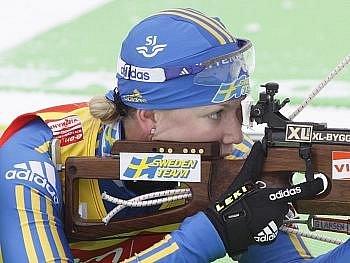 Helena Jonssonová dovedla Švédky do cílě na třetím místě.