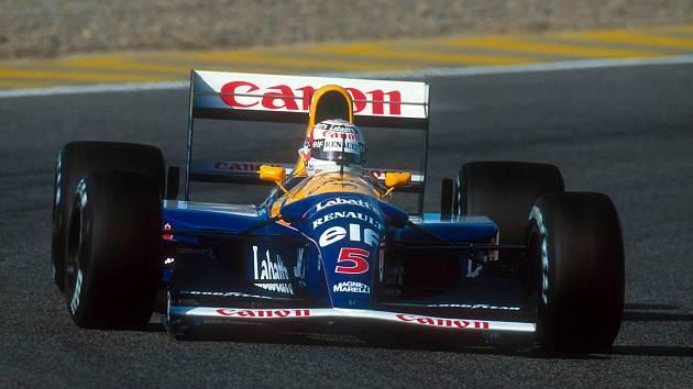Ikonický vůz Williams FW14B, který Nigela Mansella dovezl v roce 1992 k titulu mistra světa F1