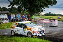 Posádka Filip Mareš a Jan Hloušek na Rally Bohemia.