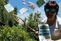 Vítězná fotografie: Exotika, moře-lepší badminton a Deník na dvoře. :) Autorkou je Zdena Sedláková z Rohozné u Poličky.