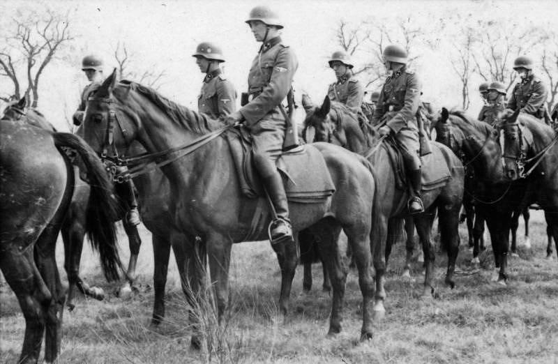 Esesácká jezdecká brigáda v roce 1941 před Moskvou
