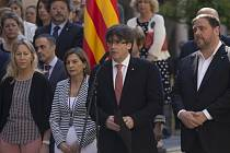 Katalánský předseda regionální vlády Carles Puigdemont