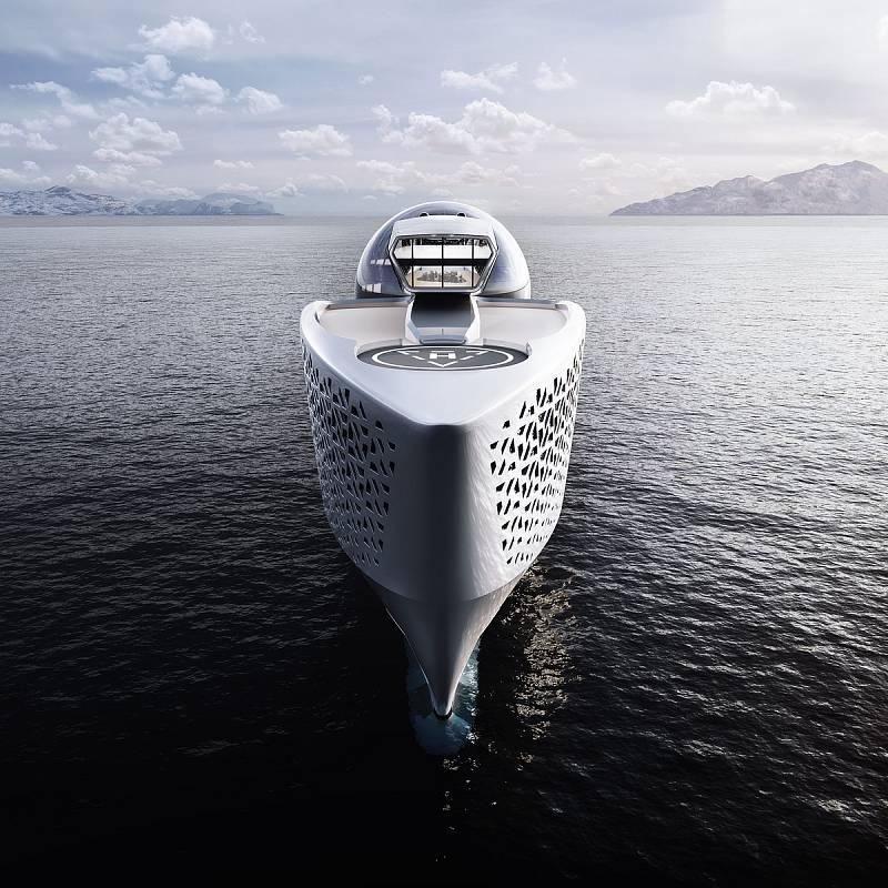 Loď společnosti Earth 300 má být největší jachtou světa. Nacházet se v ní má 22 laboratoří, v nichž vědci budou přicházet s řešeními klimatické krize.