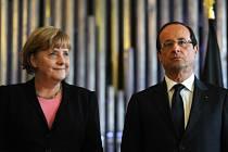 Německá kancléřka Angela Merkelová a francouzský prezident François Hollande