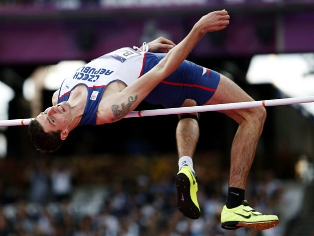 Výškař Jaroslav Bába na olympijských hrách v Londýně.