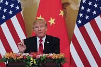 Americký prezident Donald Trump na návštěvě v Pekingu