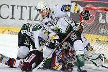 Karlovy Vary v dohrávce 37. kola hokejové extraligy uspěly na sparťanském ledě. Sparta x Karlovy Vary 2:4