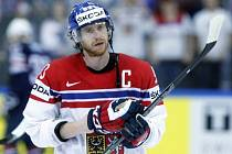 Jakub Voráček v roli kapitána české hokejisty k medaili nedotáhl.