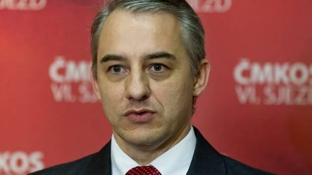 Předseda Českomoravské konfederace odborových svazů (ČMKOS) Josef Středula.