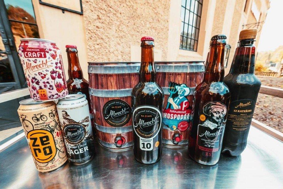 Produkty pivovaru Albrecht