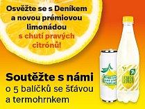 Osvěžte se s Deníkem novou prémiovou limonádou s chutí pravých citrónů!