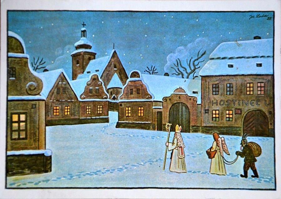 Snad každé české dítě má předvečer svátku svatého Mikuláše spojeno také s obrázky Josefa Lady