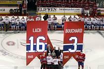 Při příležitosti stého výročí existence hokejového Montrealu byly pod strop haly Bell Centre vytaženy dresy dvou nejstarších žijících legend Canadiens.
