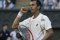 Lukáš Rosol ve Wimbledonu senzačně vyřadil světovou dvojku Rafaela Nadala.