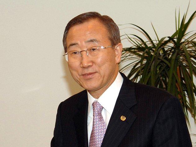 Generální tajemník OSN Pan Ki-mun.