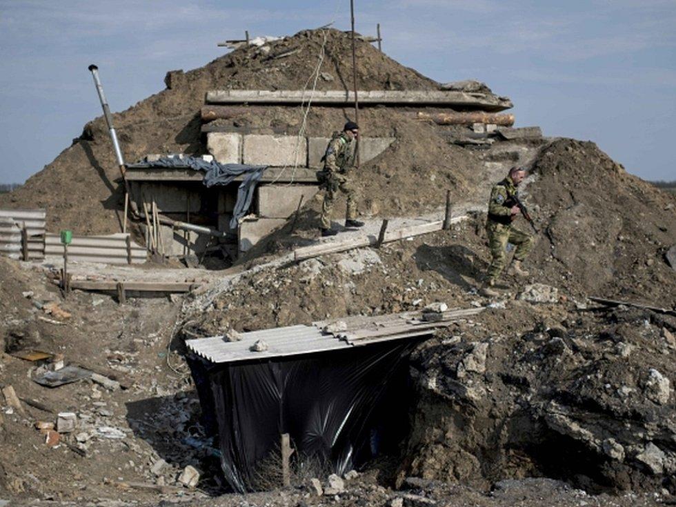 Válkou zmítané území na ukrajinském Donbasu
