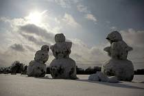 Zima v Ostravě.