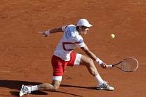 Tomáš Berdych při semifinále Davis Cupu