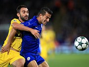 Luis Hernández z Leicesteru (vpravo) a Adrian z FC Porto.