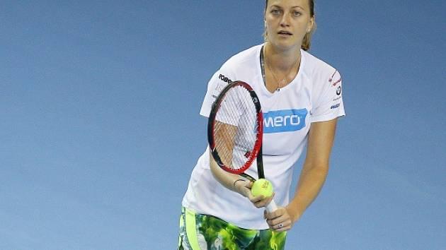 Petra Kvitová na trénink před finále Fed Cupu s Francií.