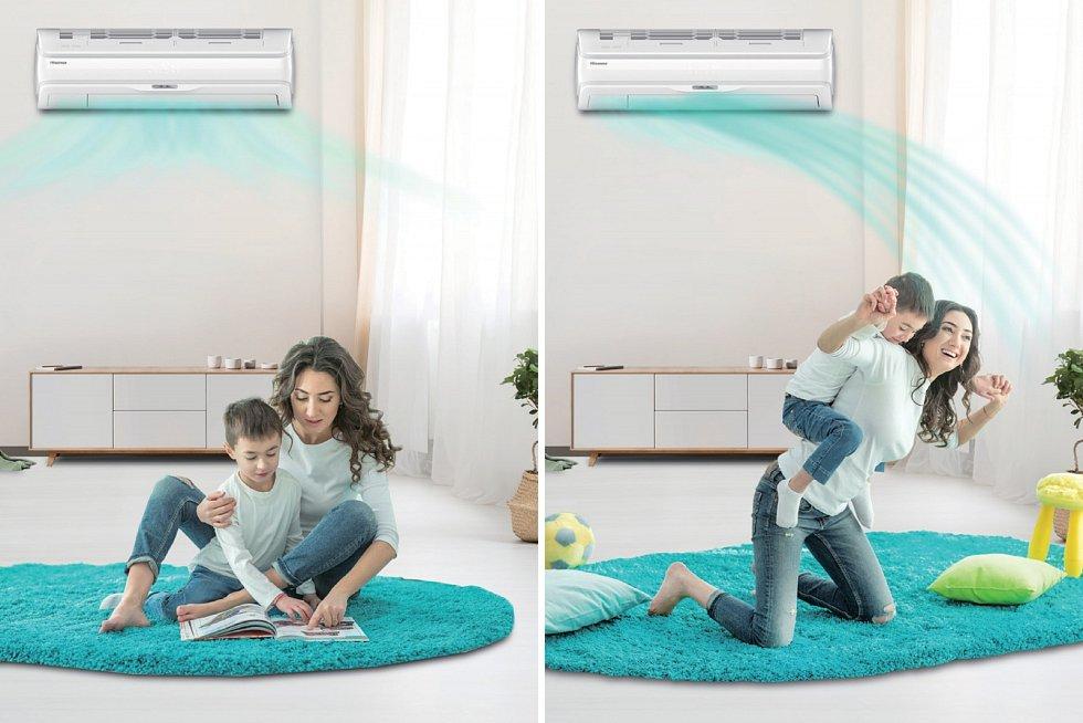 Splitová nástěnná klimatizace Hisense se hodí pro chlazení, ale i temperování nebo vytápění místností od 14 m3 (model 3 kW) až do 38 m3 (model 7 kW). Optimální teplotu, vlhkost a distribuci vzduchu zajišťuje chytrá technologie TMS.
