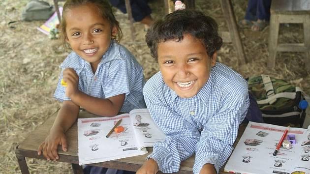 Děti v Nepálu.
