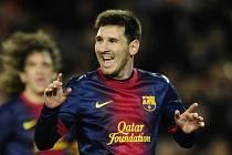 Lionel Messi z FC Barcelona v utkání proti Espaňolu.