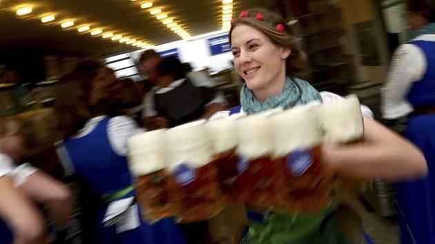 Pivní festival Oktoberfest v Mnichově