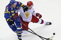 Rusko - Švédsko: Sergej Kalinin a Johan Fransson