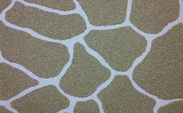 Mozaiková omítka všabloně DECOR kámen oválný.