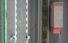 Solární dálnice u jihočínského města Ťi-nan