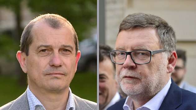 vlevo Věslav Michalik (STAN, koalice PirátiSTAN), vpravo Zbyněk Stanjura (ODS, koalice SPOLU)