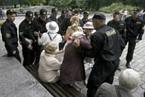 Zásah běloruské policie