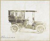 Jeden z prvních vozů s pevnou střechou, Cadillac z roku 1908