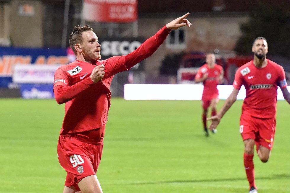 Domácí FC Zbrojovka Brno (Ondřej Vaněk) proti FC Hradec Králové