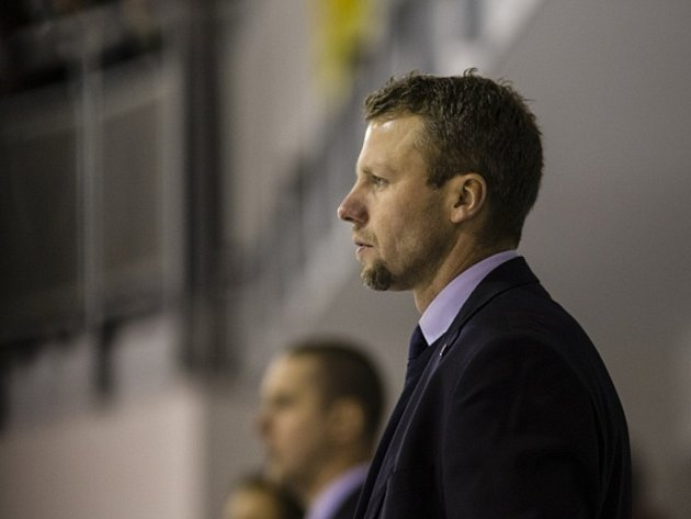 Trenér hokejové reprezentace do dvaceti let Jakub Petr.