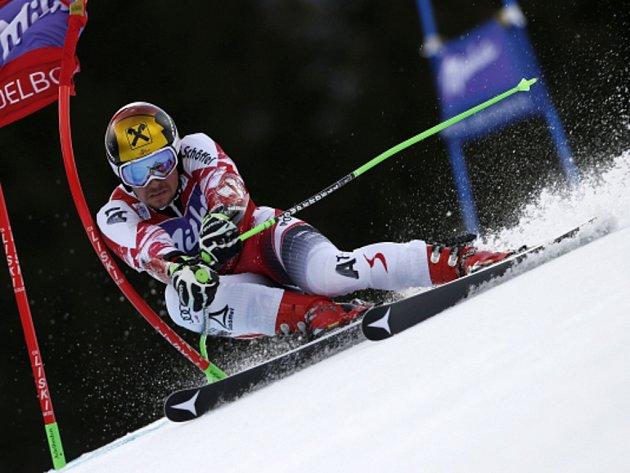 Marcel Hirscher kraloval obřímu slalomu v Adelbodenu.