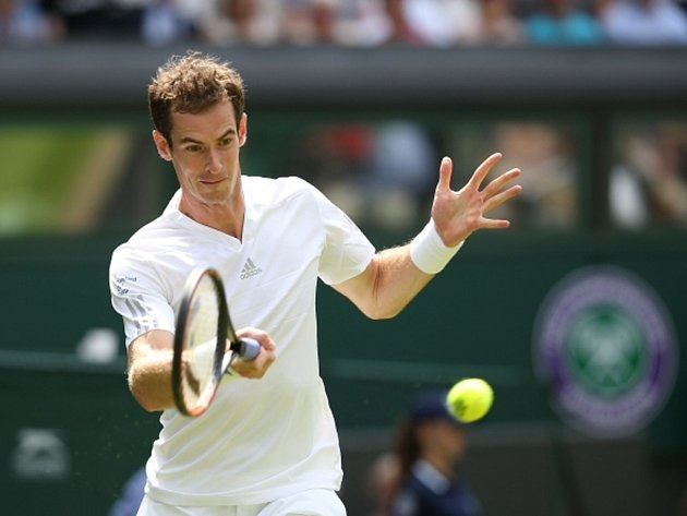 Andy Murray na Wimbledonu.