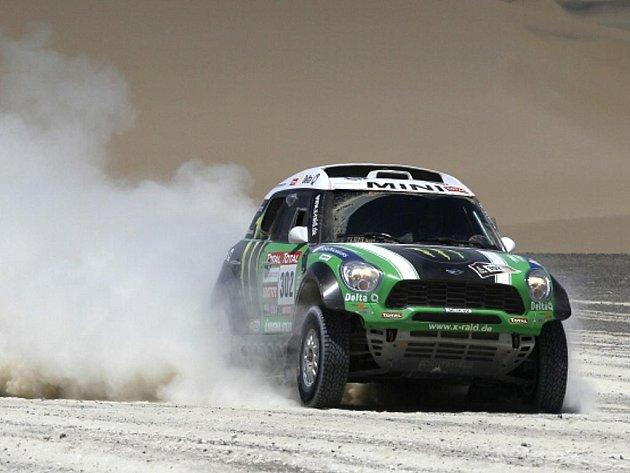 Stéphane Peterhansel na Rallye Dakar 2012.