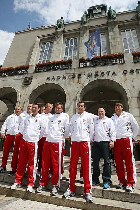 Los čtvrtfinále Davis Cupu Česko - Argentina v Ostravě: český tým.