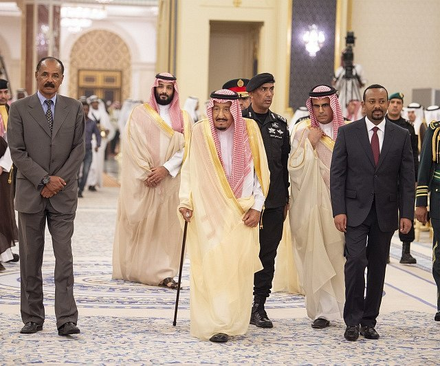 Setkání lídrů Etiopie a Eritreje v saúdskoarabské Džiddě