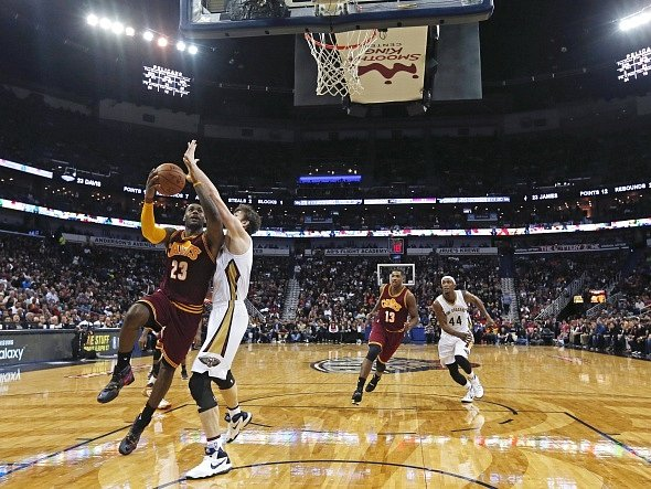 LeBron James v zápase proti New Orleans