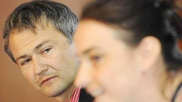 Umělecký ředitel mezinárodního hudebního festivalu Struny podzimu Marek Vrabec a jeho zástupkyně Dana Syrová.